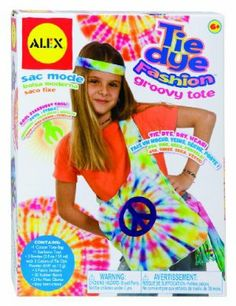 Alex Tie Dye Fashion Groovy Tote by Alex. $16.28. Easy instructions. Decorate your finished products with fabric stickers. Tie dye fashion groovy tote!. 3 colors of dye powder can be mixed for even more great colors. Create beautiful starburst design. From the Manufacturer                Create a groovy tote bag with this new tie dye kit! Everything you need is right here in the box.   Includes a special starburst tool to create a fabulous design right on the front.  In...