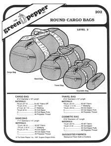 Sewing Pattern - Round Cargo Bag Pattern, Duffle Bag Pattern, Green Pepper Patterns - GP 202 £4.60