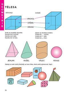 Výsledek obrázku pro geometrická tělesa pracovní list