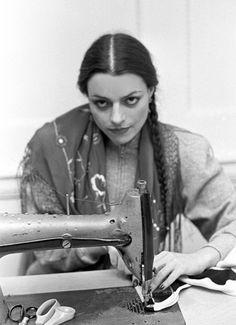 Norma Kamali in her studio