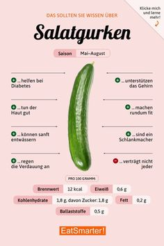 You should know that about cucumbers! - Detox Diet Ideen- You should know that about cucumbers! – Detox Diet Ideen You should know that about cucumbers! Diet And Nutrition, Proper Nutrition, Nutrition Guide, Holistic Nutrition, Complete Nutrition, Banana Nutrition, Potato Nutrition, Ketogenic Diet, Losing Weight Fast