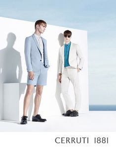 Ben Allen and Harvey James front the Spring/Summer 2015 campaign of Cerruti 1881.