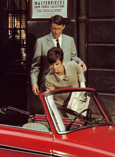 Audrey Hepburn with Peter O'toole in How To Steel A Million 1966 - Love it!