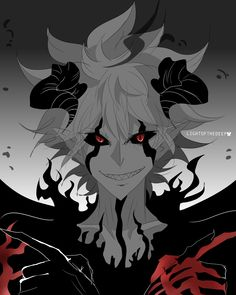 Clover Logo, Arte Dark Souls, Red Right Hand, Anime Demon Boy, Black Clover Manga, Anime Group, Dark Pictures, Handsome Anime Guys, Anime Crossover