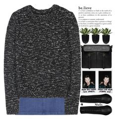 """i want to be a better version of myself everyday"" by alienbabs ❤ liked on Polyvore featuring Alice + Olivia, Polaroid, Yves Saint Laurent, Retrò, clean, organized and shein"