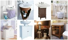 82 best pedestal sink storage solutions images in 2019 restroom rh pinterest com