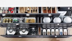 Extremely organized kitchen cupboard