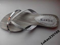 Klapki damskie biało-srebrne r. 36-41 SUPER OFERTA