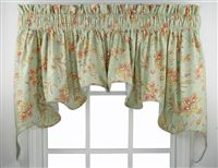 Barano Jacobean Style Floral Print Lined Duchess Swags Valance Window Curtain