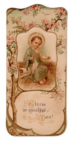 Gloria in Excelsis Deo Vintage Holy Card Religious Images, Religious Art, Gloria In Excelsis Deo, Vintage Holy Cards, Vintage Christmas Images, Divine Mother, Mary And Jesus, Holy Mary, Catholic Art