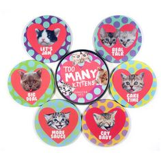 Too Many Kittens Coaster Set, $20, now featured on Fab.