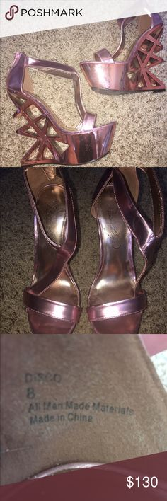 Nasty Gal Diva Heels MAKE ME AN OFFER!!!  So sexy, super high but surprisingly easy to walk in. Only worn once. Nasty Gal Shoes Platforms