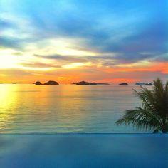 #Sunset from villa no. 108