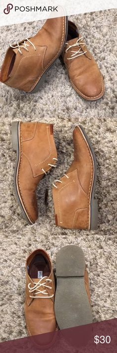 1ccfa14e414 Men s Steve Madden Heston Ivon Chukka size 9 Steve Madden Chukka leather  boot with rubber sole
