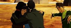 Korra, Asami, Mako and Prince Wu Avatar Cartoon, Cartoon Gifs, Korra Avatar, Team Avatar, Iroh, Korrasami, Fire Nation, Zuko, Legend Of Korra