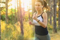lány fut, sport, futás