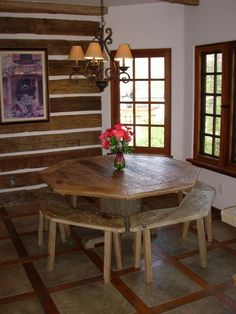 Our Temecula Showroom Features A Dining Table Constructed Of Antique Oak  Threshing Planks, Hand Hewn