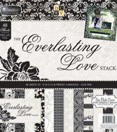 DCWV 12''x12'' Everlasting Love  Stack, , hi-res