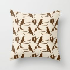 Buy Rustic Brown Bird Throw Pillow by Christina Rollo. Worldwide shipping available at Society6.com. Just one of millions of high quality products available.