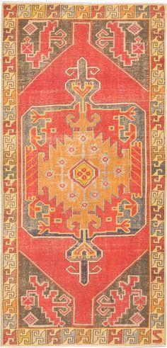 """4'4"""" x 9'2"""" Anatolian Turkish Overdyed Handmade Rug"""