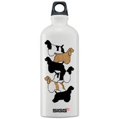Cocker Spaniels Water Bottle - I want one! Even though there's no chocolate cocker :(