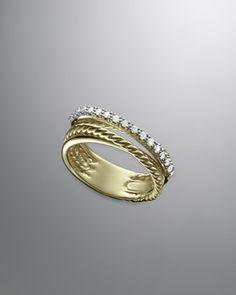 Crossover+Ring+with+Diamonds+by+David+Yurman+at+Neiman+Marcus.
