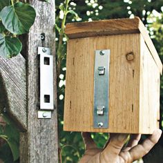 Heavy–duty bracket makes it easy to hang wooden bird houses or feeders on posts or sheds. Easy–lift design makes it simple to check or clean house or feeder. Wooden Bird Houses, Bird Houses Diy, Bluebird Houses, Bluebird Nest, Bird House Plans, Bird House Kits, Bird House Feeder, Bird Feeders, Lift Design