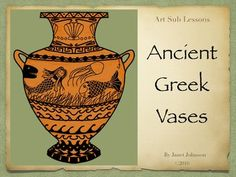 Elementary Art Lesson - Ancient Greek Vases by Art Sub Lessons History Lessons For Kids, Art Lessons For Kids, Art Lessons Elementary, Kindergarten Lessons, History Class, Elementary Education, Art Sub Plans, Art Lesson Plans, Ancient Greek Art