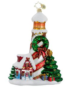 Christopher Radko Christmas Ornament, Holiday Beacon, love lighthouses!