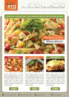 Do you need pizza flyer templates? Here is the best collection of pizza restaurant flyer PSD templates that you can utilize to sell the food products. Pizza Flyer, Menu Flyer, Pizza Menu, Pizza Food, Restaurant Flyer, Pizza Restaurant, Photoshop Projects, Good Pizza, Psd Templates