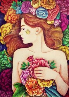 My coloring activity for art theraphy (illustration by Lidia Kostanek)
