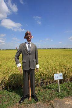 案山子 Japanese Scarecrow Barack Obama
