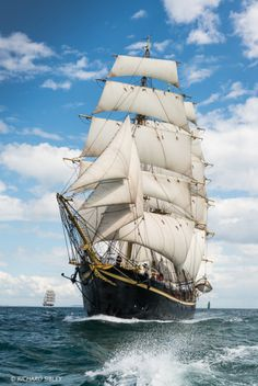 "Full-rigged ship, ""Georg Stage"", Denmark. Torbay – Lisbon"