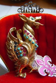 RARE Vintage Vendome Gold Griffin Brooch. $ 65.00, via Etsy.