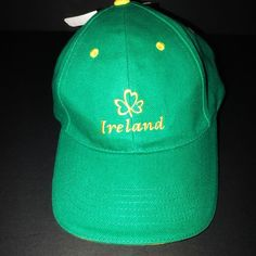 f77644e9f65e Allied Ireland Men s Shamrock Green Gold Lucky Baseball Cap Hat Adjustable  NWT  Allied  BaseballCap