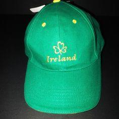 3599d002296 Allied Ireland Men s Shamrock Green Gold Lucky Baseball Cap Hat Adjustable  NWT  Allied  BaseballCap