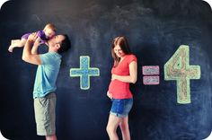 Love this photo and I so want to do a chalk board wall in a nursery!