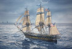 Uss Constitution, Old Sailing Ships, Ship Of The Line, Ship Paintings, Naval History, American Revolutionary War, Wooden Ship, Tall Ships, Ship Art