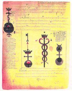 alchemical drawings by Nicolas Flamel (1330?-1418)