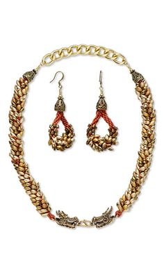 Jewelry Design - Single-Strand Necklace and Earring Set with Seed Beads and Kumihimo Imitation Silk Cord - Fire Mountain Gems and Beads