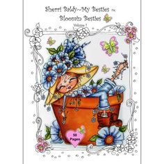 Sherri Baldy My Besties Bloomin Coloring Book Some Of Baldys Fan Favorites