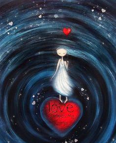 """Love Shapes My World"" Art from the Heart by Amanda Cass: Art Amour, Foto Fantasy, Art Fantaisiste, Illustrator, Love Shape, I Love Heart, Angel Art, Heart Art, Whimsical Art"