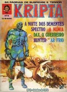 Revista Kripta #2 - RGE (1976) - Quadrinhos de terror, suspense, ficção e sobrenatural