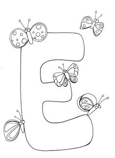Letter E Coloring Pages Printable Free