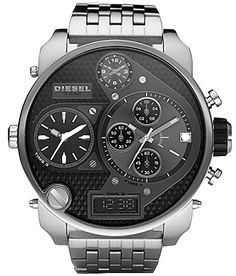 Diesel Stainless Steel Band Wristwatches with Chronograph Diesel Watches For Men, Luxury Watches For Men, Black Diesel, Watches Photography, Swatch, Daddy, Watch Sale, Cool Watches, Men's Watches