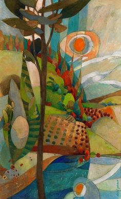 a brightly colored view by artmeister  Artist: david galchutt - an illustrator/painter. www.davidgalchutt.com