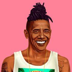 amit shimoni turns obama, dalai lama and more into hipsters