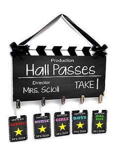 teachers-passes-hollywood-themed-film-take-classroom-hall-passes-sign