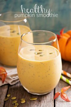 Nutritious Pumpkin Smoothie Recipe by Rosanna Matz 1 1/2 cup Silk Vanilla Soy Milk ¼ cup Pumpkin ½ tsp Cinnamon ¼ tsp Nutmeg 1 TBS of PB2 -I know it sounds nutty (no pun intended), but it really is good Blend all the ingredients and enjoy!