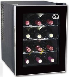 Small Wine Cellars - Igloo FRW1201 12Bottle Wine Cooler Black ** Check out the image by visiting the link.